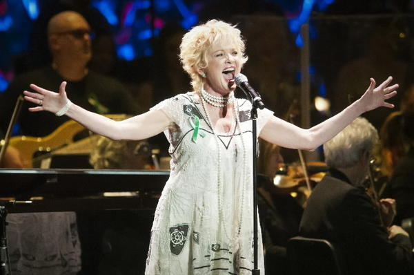 "Christine Ebersole performs ""On The Atchison, Topeka and The Santa Fe"" during From Broadway With Love, a benefit concert for Sandy Hook at Waterbury's Palace Theater on Jan. 28."