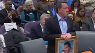 Father of Newtown victim heckled during hearing on assault weapons