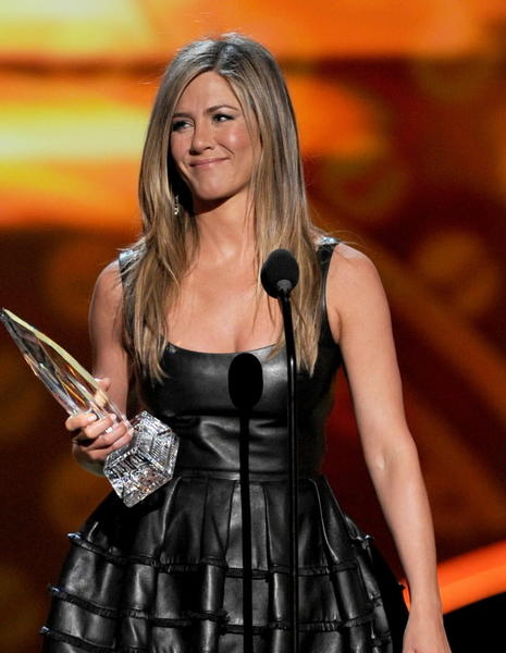 "Jennifer Aniston, Tim Robbins and John Hawkes are coming to Greenwich and Stamford in February to shoot a movie adaptation of a novel by Elmore Leonard titled ""The Switch."" Aniston is picture here accepting a People's Choice Award for best comedic actress on Jan. 9, 2013.  ."