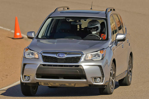 "<a href=""/business/autos/sns-2014-subaru-forester-review-20130125,0,2016658.story"">Daid Thomas of Cars.com writes:</a> Subaru wanted to make an all-wheel-drive compact SUV that didn't lose to front-drive competitors on price, fuel economy or performance. After my test I can confirm that the Forester does succeed on those fronts. It's also comfortable and quiet on the road, with plenty of power for this segment. For shoppers looking for an all-wheel-drive vehicle, the Forester wins easily in terms of capability, price and fuel economy. <a href=""/business/autos/sns-2014-subaru-forester-review-20130125,0,2016658.story"">Full review</a>"