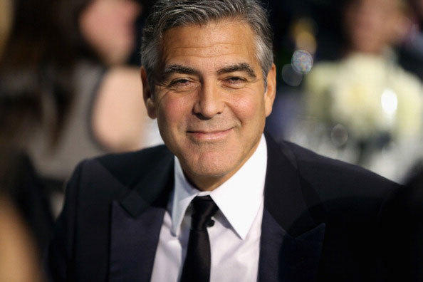 Producer/Actor George Clooney attends the 18th Annual Critics' Choice Movie Awards held at Barker Hangar on January 10, 2013 in Santa Monica, California.