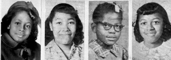 The four girls who died in the Birmingham, Ala., church bombing, from left: Denise McNair, 11; Carole Robertson, 14; Addie Mae Collins, 14; and Cynthia Wesley, 14.
