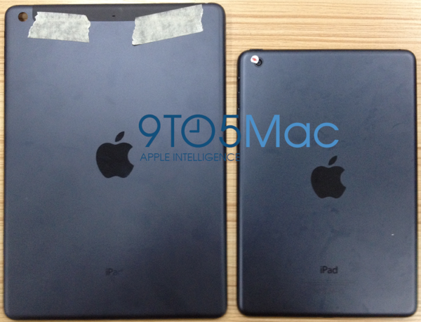 An image of what could be the back cover of the fifth-generation iPad, left, hit the Web this week. It looks a lot like the iPad mini, right.