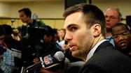 Baltimore Ravens quarterback Joe Flacco used a word he shouldn't have during his first Super Bowl news conference Monday, and he knew it.