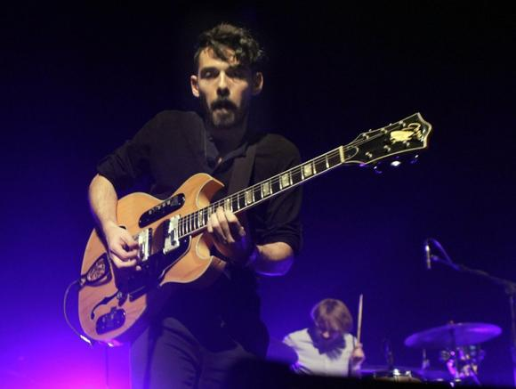 Taylor Rice and Matt Frazier (drums) of Local Natives at the Fonda