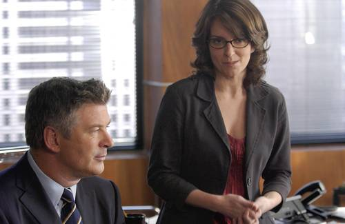 Jack (Alec Baldwin) and his ever-beleaguered employee, Liz Lemon (Tina Fey) in the Season 7 premiere.