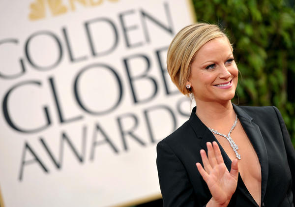 Amy Poehler at the 2013 Golden Globe Awards.