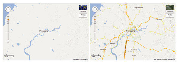 Google Maps of North Korea