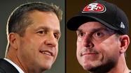 In case you hadn't heard, Ravens head coach John Harbaugh and his baby bro, San Francisco 49ers head coach Jim Harbaugh, will become the first brothers to duke it out as dueling head coaches in the Super Bowl.