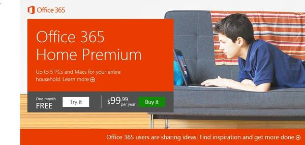 Microsoft has begun selling annual subscriptions for its cloud-based Office 365 Home Premium service.