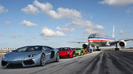 Lamborghini Aventador Roadster takes over runway at Miami airport