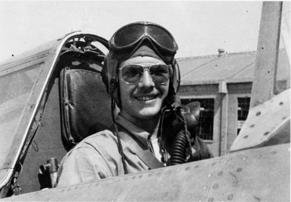 James Farrell served in the Air Force during World War II, and piloted P-47 Thunderbolt fighters in missions in China in 1944 and 1945.