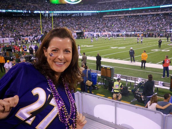 Katrina Carter, a Ravens fan in her natural habitat.