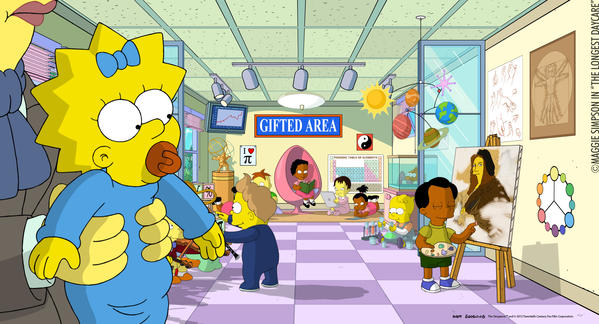 "Maggie Simpson stars in ""The Longest Daycare."""
