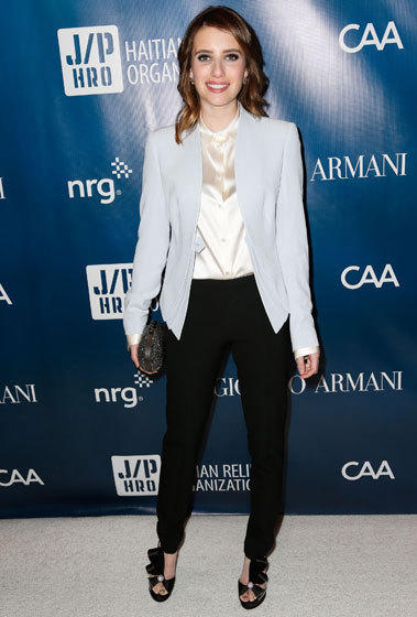 Actress Emma Roberts attends the Sean Penn and Friends Help Haiti Home Gala at the Montage Hotel in Los Angeles.