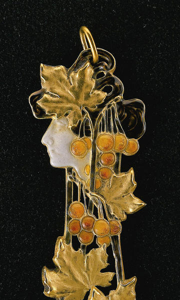 This pendant, circa 1900, by French artist Rene Lalique is part of the Art Nouveau exhibition opening at the Morse Museum of American Art on Feb. 12.