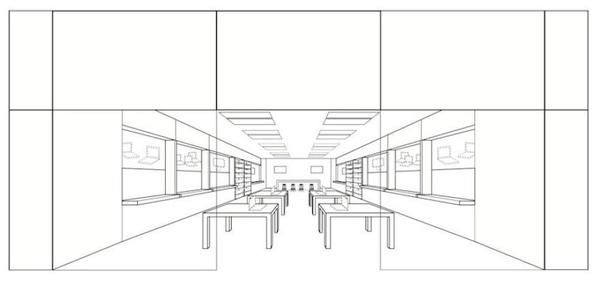 "Apple's ""clear glass storefront"" design, complete with ""large, rectangular horizontal panels over the top of the glass front,"" received trademark status last week from the U.S Patent and Trademark office."