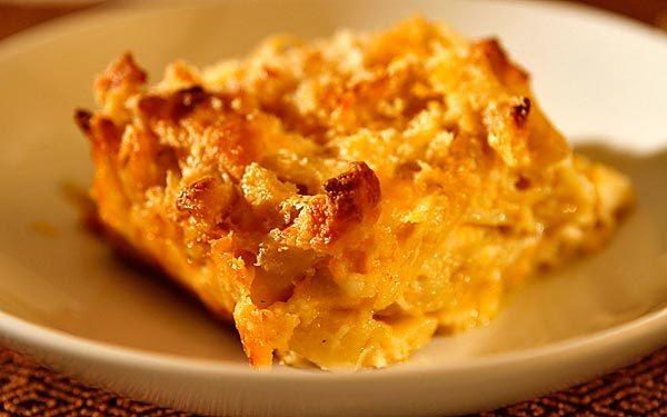 Beer-baked mac 'n' cheese.