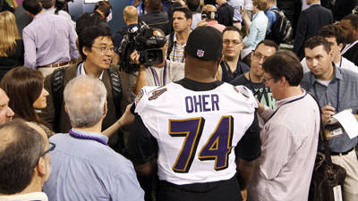 Michael Oher tired of hearing about 'The Blind Side'