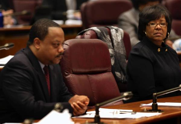 Ald. Roderick Sawyer, 8th, and Ald. Michelle Harris, 6th, will likely see a replacement for Sandi Jackson by the Feb. 13 City Council meeting. Jackson resigned her 7th Ward seat this month.