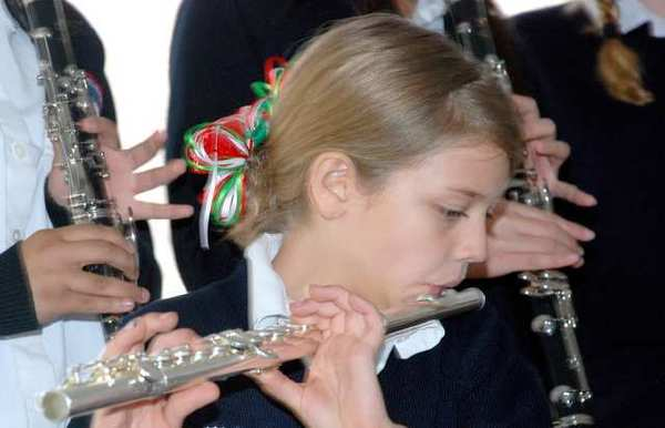 A highlight of the celebration was a performance by the St. Robert Bellarmine School Band and flautist Kaitland Walling.