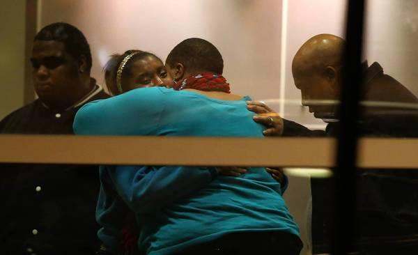 Family of 15-year-old shooting victim Hadiya Pendleton grieve at Comer Children's Hospital.