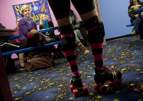 Lehigh Valley Rollergirls Hold Open Recruitment Meeting with new skater orientation at the Independence Family Fun Center in Schnecksville on Monday. This provided a chance for prospective skaters to meet the team, hear what is expected of members.