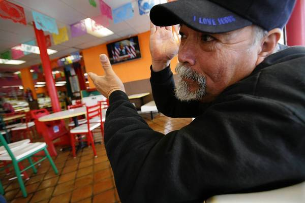 At El Gallo Giro restaurant in Huntington Park, Felipe Velasquez, who says he crossed illegally from Mexico in the 1980s, applauded President Obama's call for broader paths to citizenship.