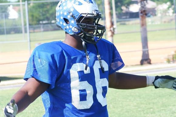 Dazzie Morris, Apopka, offensive lineman, photo