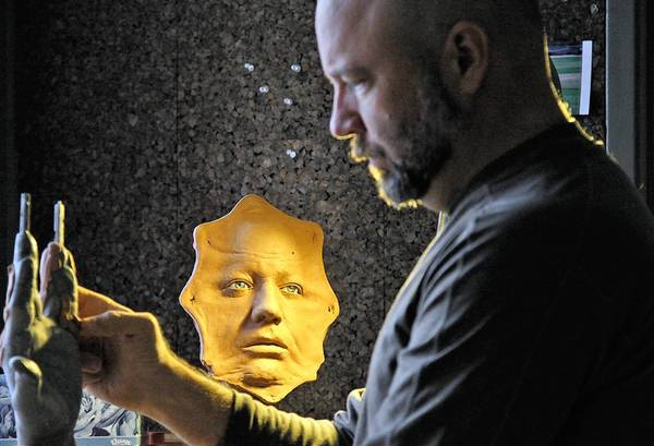 "Barney Burman, owner of B2FX in North Hollywood, begins work on a sculpture for the fairy-tale-inspired ""Grimm,"" the popular NBC series now in its second season."