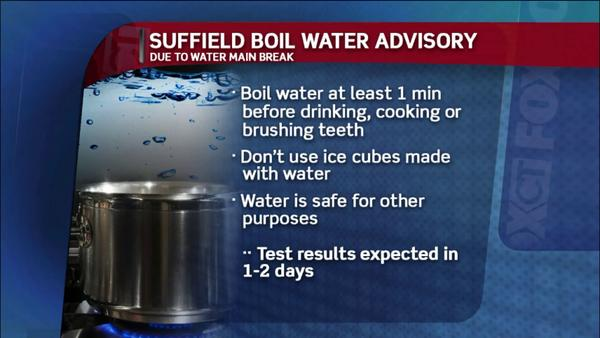 Suffield Boil Water Advisory