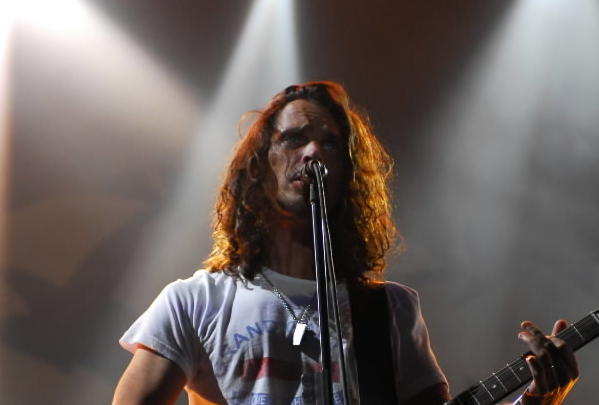 Chris Cornell and Soundgarden perform during Lollapalooza in 2010.