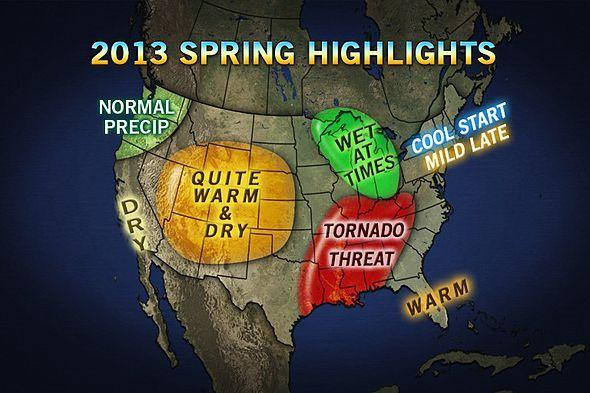 AccuWeather.com predicts a cool start to spring, with chances for March snow storms, in Maryland and the mid-Atlantic.
