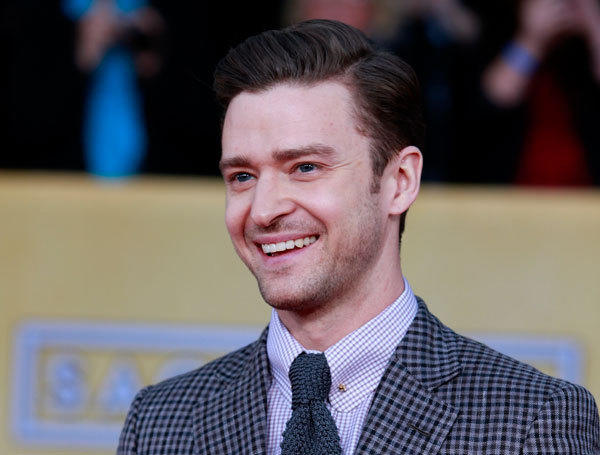 Singer Justin Timberlake arrives at the 19th annual Screen Actors Guild Awards in Los Angeles, California January 27, 2013.