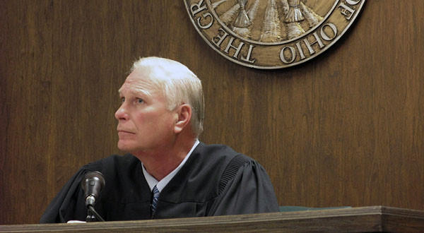 Judge Thomas Lipps listens to arguments in Jefferson County Juvenile Court in Steubenville, Ohio, last week.