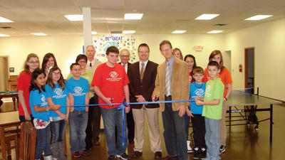 A ceremonial ribbon-cutting was held at the new Boys & Girls Club.