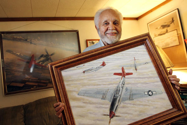 Retired Lt. Col. Leo R Gray is a Red Tail Tuskegee Airman who flew in Italy in WWII. He saw a premiere screening of George Lucas' film Red Tail, which is a Hollywood version of the story of the Tuskegee Airman.