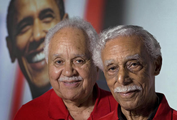 Former Tuskeegee Airmen, Lt. Colonel Leo R. Gray, left, and Judge Richard B. Rutledge will be attending Barack Obama's inauguration on January 20, 2009.