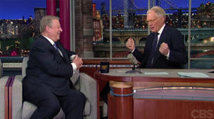 David Letterman grills Al Gore about selling Current to Al Jazeera