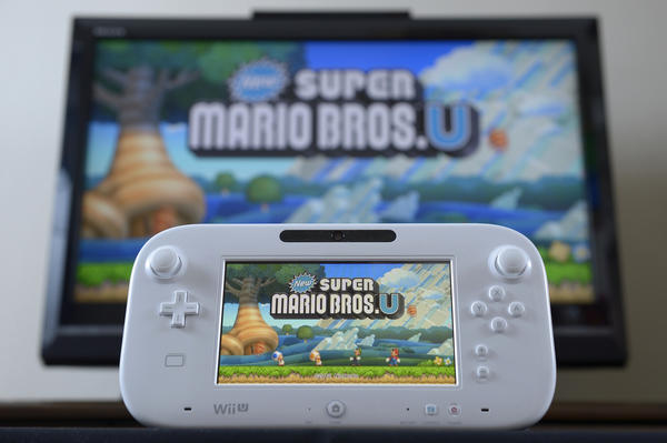 """New Super Mario Bros. U"" on the Nintendo Wii U."