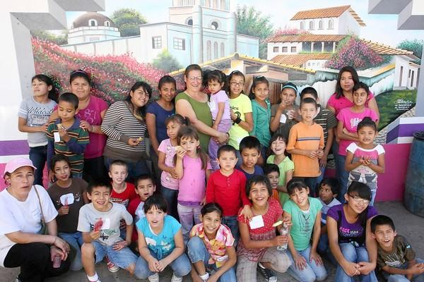 Children in the orphanage in Mexico.