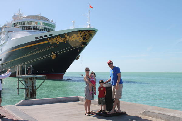Family fun and adventure await in Key West. Pictured are South Florida Parenting Editor Kyara Lomer-Camarena and family.