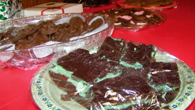 The three main categories in the Death by Chocolate competition include cakes and pies, cookies and bars (as pictured here) and candy.