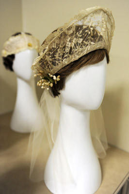 This head piece belonged to Ellie Laubner's, mother-in-law. She wor it on her wedding day. Ellie Laubner, of Allentown, donated flapper fashions that she had been collecting for years to the Allentown Art Museum. There will be a Fabulous Flappers exhibit a the Museum from February 3 - April 14.