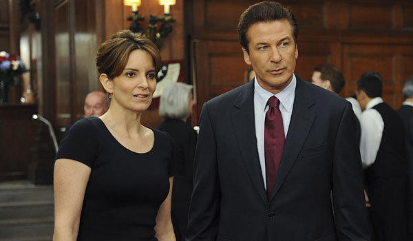 "Tina Fey and Alec Baldwin in ""30 Rock."""