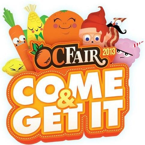 "The characters featured in the O.C. Fair's ""Come & Get It"" logo."