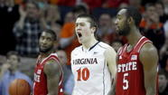 Mike Tobey first entered Tuesday's game against North Carolina State with 15:09 remaining in the first half. Within moments, Virginia's 6-foot-11 freshman was a factor.