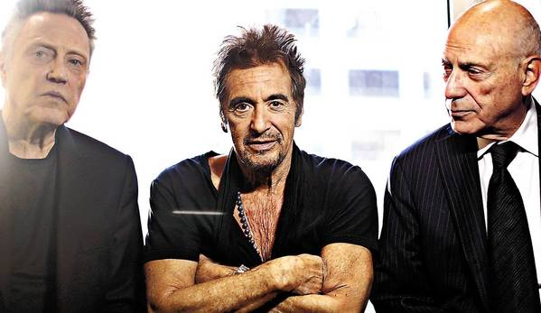 """Stand-up Guys"" actors Christopher Walken, Al Pacino and Alan Arkin in Chicago in October."