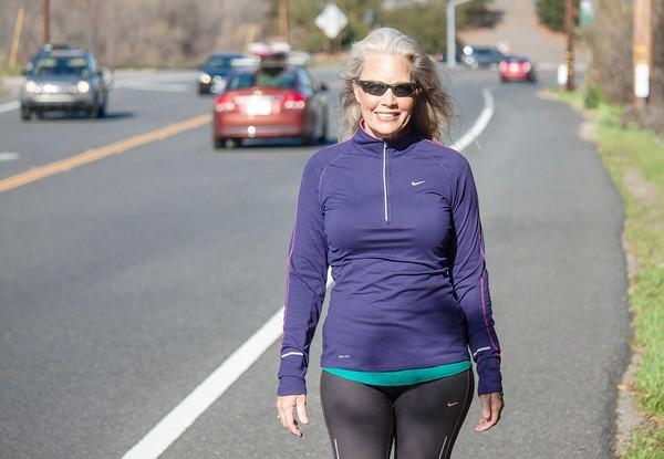 Laurie Johnsen walks six to eight miles every day because it offers a slew of benefits.