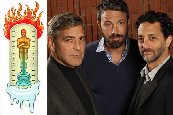 """Argo"" producer George Clooney, producer-director-star Ben Affleck, and producer Grant Heslov."